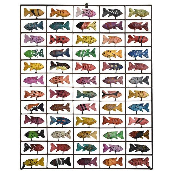Painel Grade de Peixes com 60 pçs.