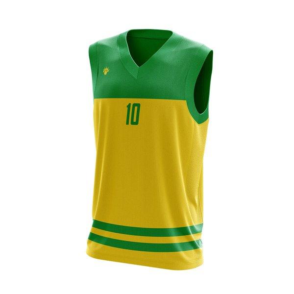 Camisa Regata Basquete Amarela com detalhes em Listra