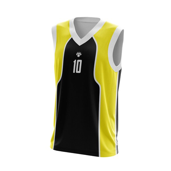 Camisa Regata Preta com detalhes amarelo basquete