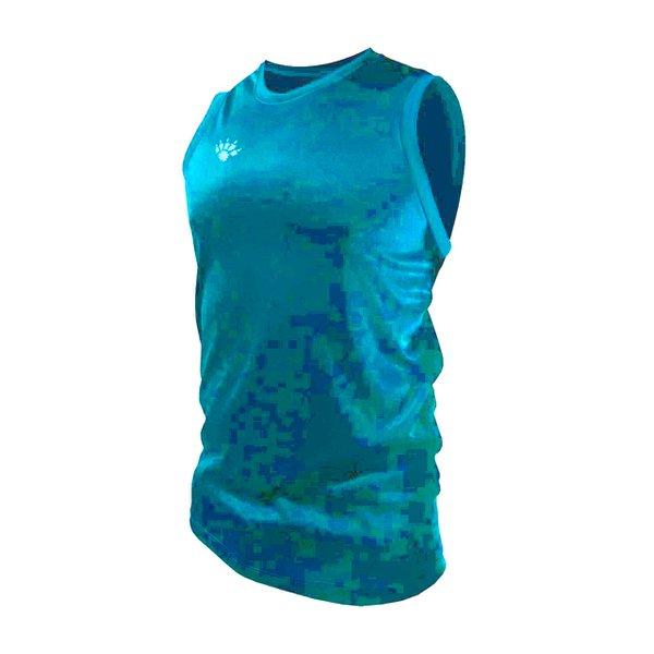 Camisa Regata Casual Masculina Azul Celeste