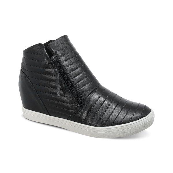 Sneakers Matelassê Preto - Salto 3,5 Cm