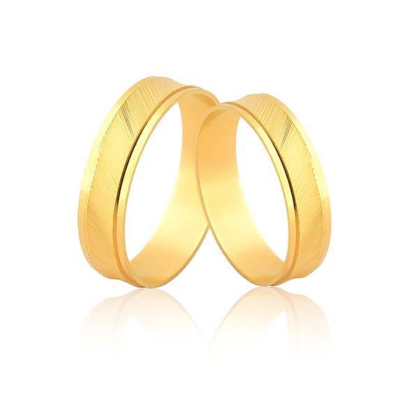 Alianças Diamantadas em Ouro 18k