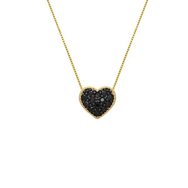 Gargantilha Veneziana com Coração em Ouro 18k