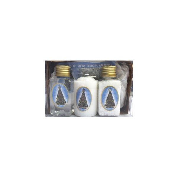 Kit Água + Sal + Vela + Instrução