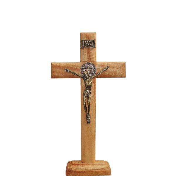 Crucifixo Madeira 26cm Mesa e Parede