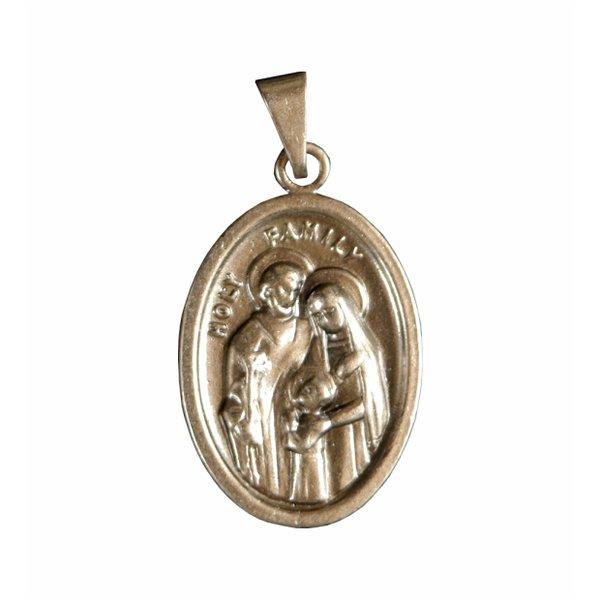 Medalha Oval Prata Velha