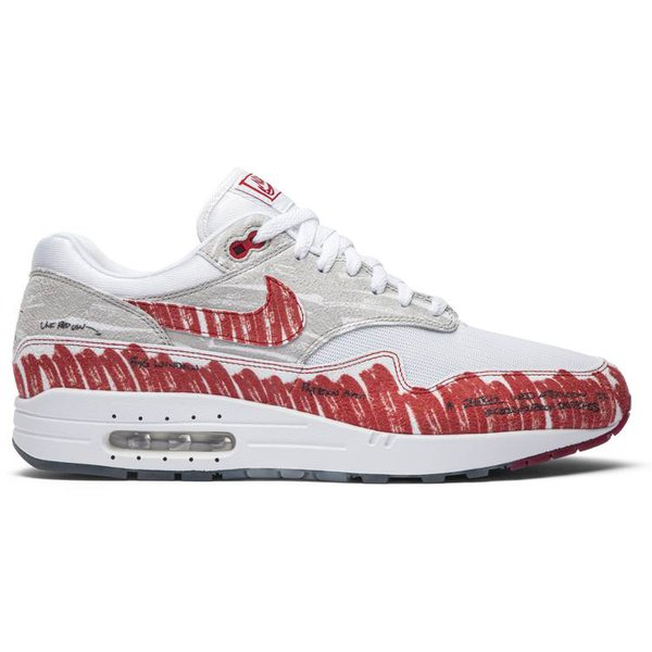 TÊNIS NIKE AIR MAX 1 SKETCH TO SHELF - UNIVERSITY RED