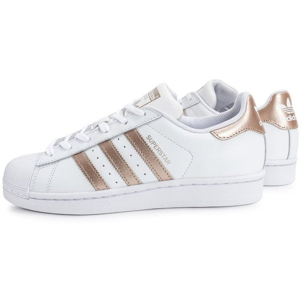 uk availability b79d1 1e14f TÊNIS ADIDAS SUPERSTAR BRANCO C/ BRONZE