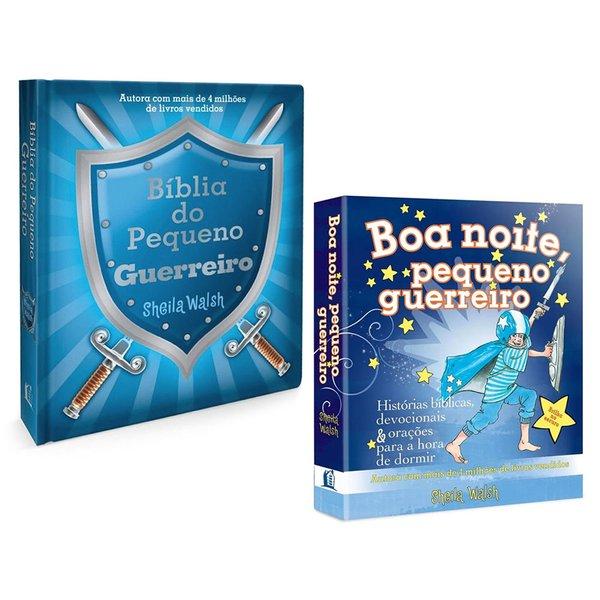 1 Bíblia do Pequeno Guerreiro + 1 Livro Boa noite pequeno guerreiro