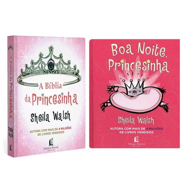 1 Bíblia da Princesinha + 1 Livro Boa Noite Princesinha
