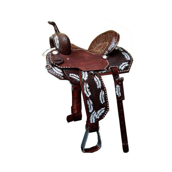 Sela de Couro Tambor - 12 Forma Protec Horse