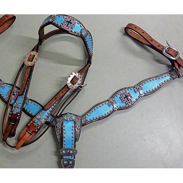 Conjunto Cabecada e Peiteira - Master Saddles 14
