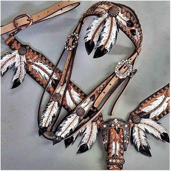 Conjunto Cabecada e Peiteira - Master Saddles 18