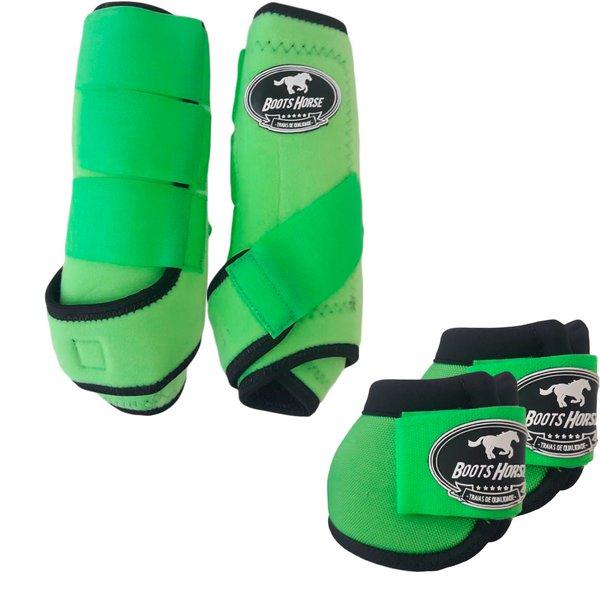 Kit Simples Color Boots Horse Cloche e Caneleira - Verde Limão
