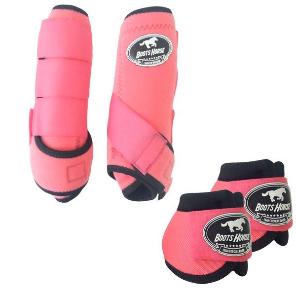 Kit Simples Color Boots Horse Cloche e Caneleira - Rosa