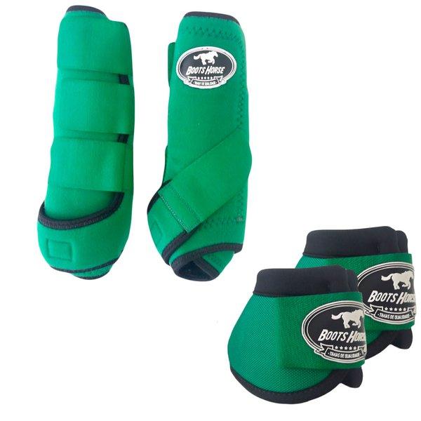 Kit Simples Color Boots Horse Cloche e Caneleira - Verde Escuro