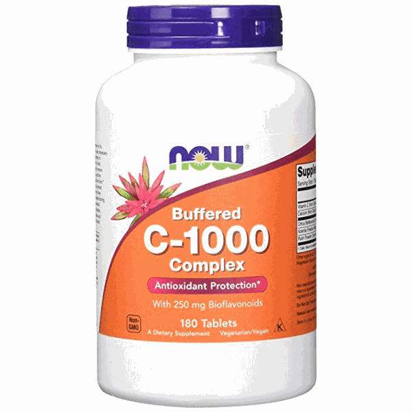 Buffered C-1000 Complex Now Foods 180 tabletes