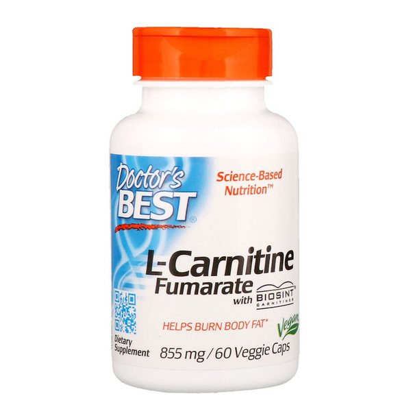L-Carnitina Fumarate com Biosint Carnitines - Doctor`s Best - 855 mg - 60 Veggie Caps