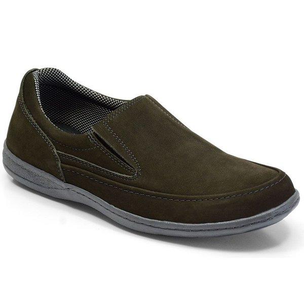 Sapato Masculino Linha Sportive Couro Na Cor Verde Militar 657-2021-3