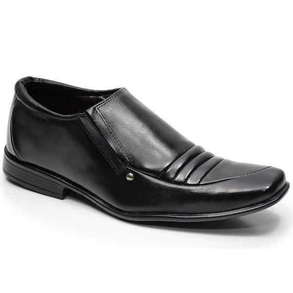 Sapato Social Em Couro Cor Preto Ref. 639-134