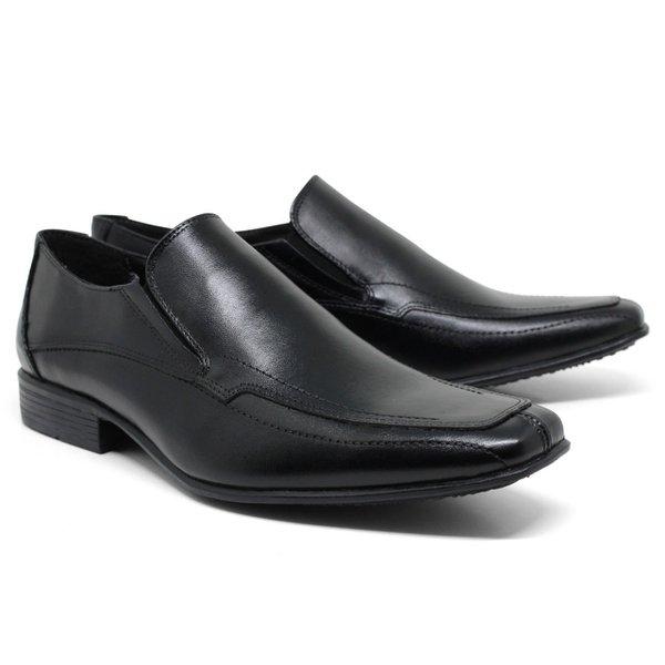 Sapato Social em Couro Cor Preto Ref. 1422-667