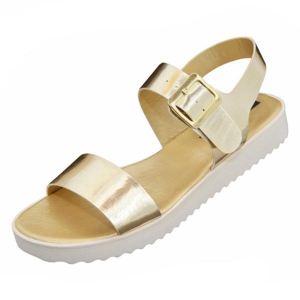 Sandália de Tira Dourada - Selten
