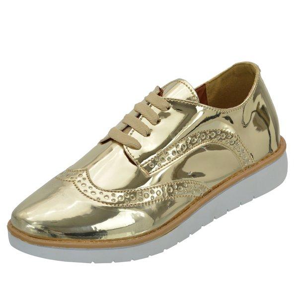 Tênis Oxford Dourado - Selten