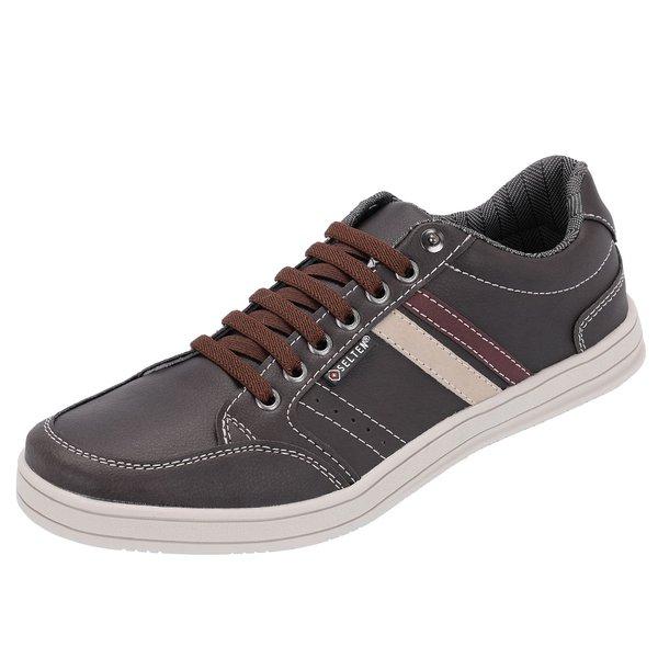 Sapato Casual Masculino Marrom