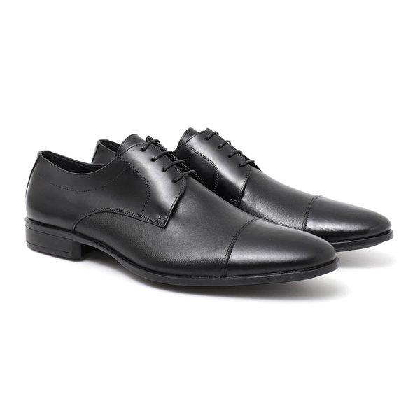 Sapato Masculino Social Clássico Preto em Couro Legítimo