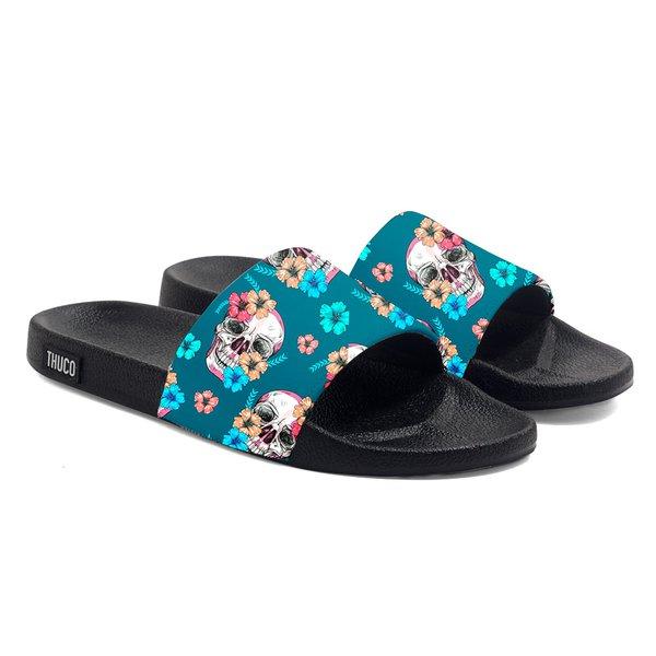 CHINELO SLIDE USE THUCO FLORAL CAVEIRA