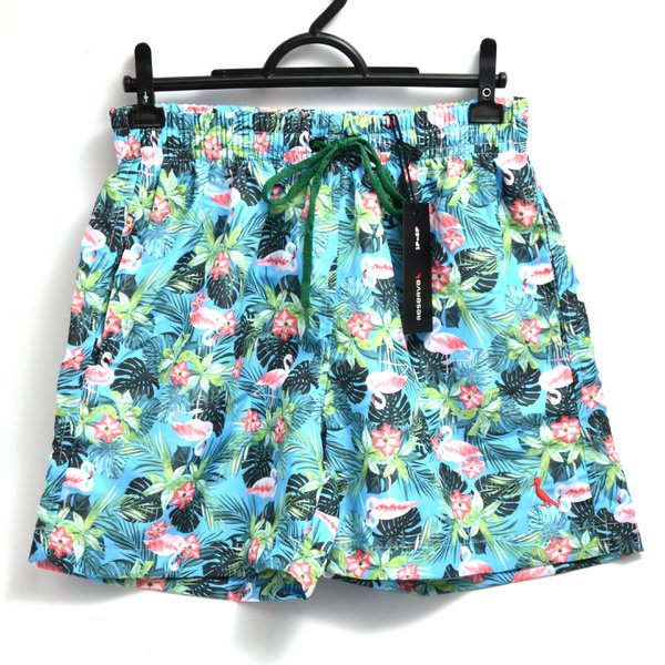 SHORT TACTEL AZUL FLORES