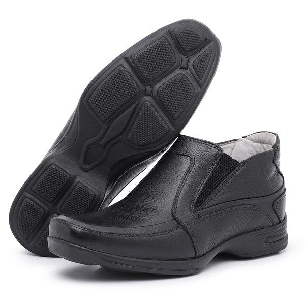 Sapato Social Conforto Anatômico Tamanhos Grandes Preto