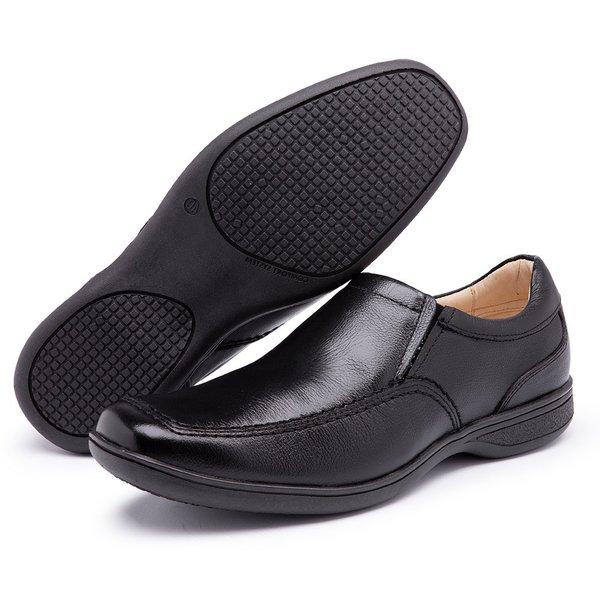 Sapato Social Conforto Anatômico Diconfort Calçados Preto