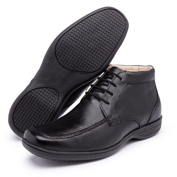 Sapato Social Conforto Anatômico Diconfort Calaçados Preto