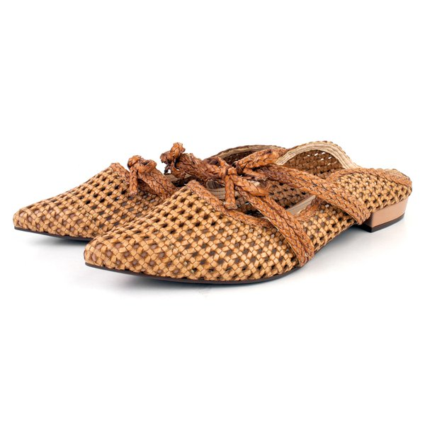 Mule Trivalle Shoes Tressê Nude