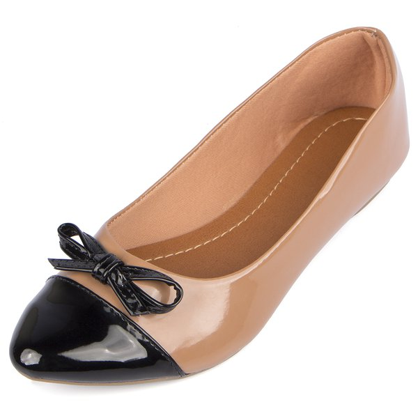 Sapatilha Trivalle Shoes Nude com Preto