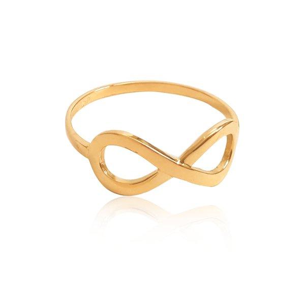 Anel em Ouro 18k amarelo símbolo Infinito