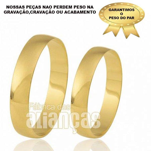 Alianças de Ouro Amarelo 18k