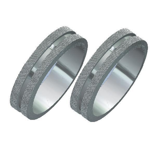 Aliança de Compromisso em Prata 0,950k FA-AG-6010