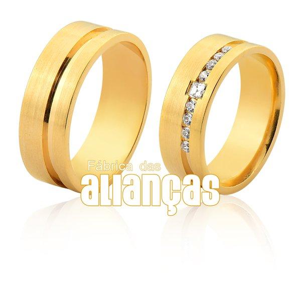 Alianças de Noivado e Casamento em Ouro 18k 0,750
