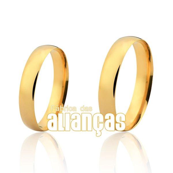 Alianças de Noivado e Casamento em Ouro Amarelo 18k 0,750 FA-162