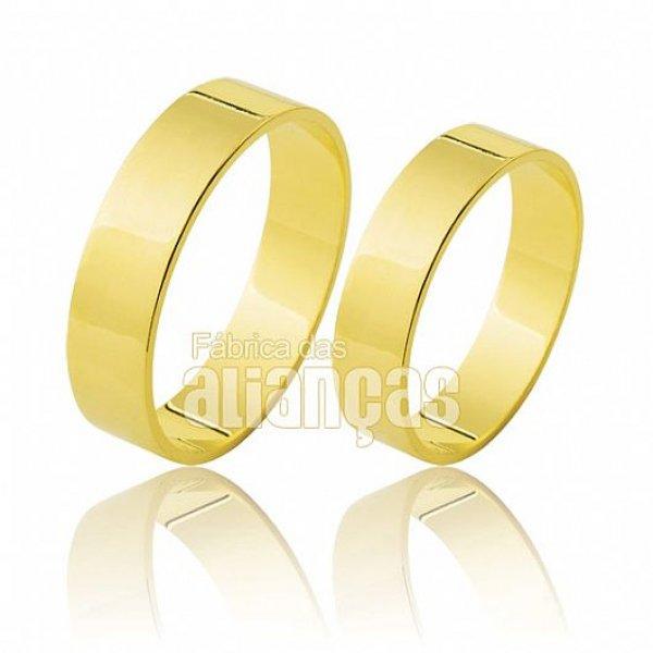 Aliança de Noivado e Casamento Em Ouro 18 k 0,750