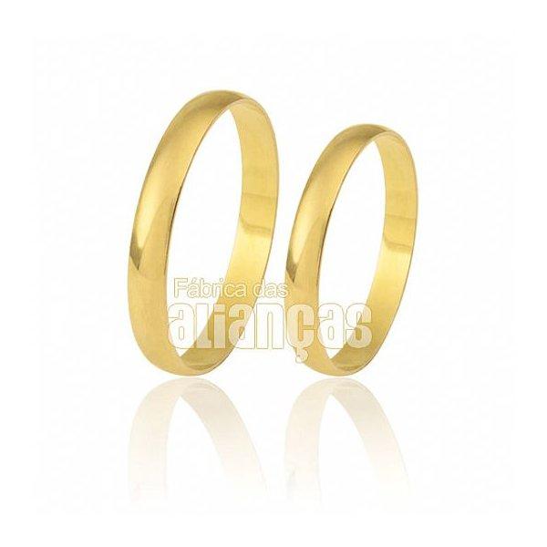 Alianças tradicionais em Ouro Amarelo 18k