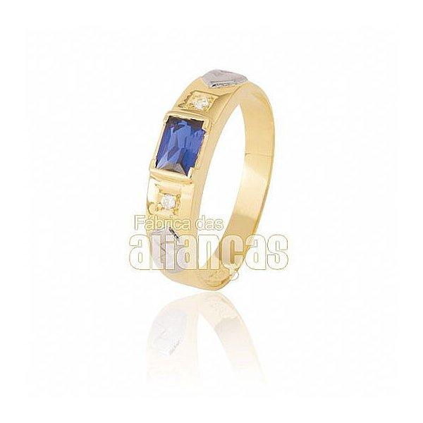 Anel de Formatura Masculino em Ouro Amarelo 18k 0,750 FA-033-Z