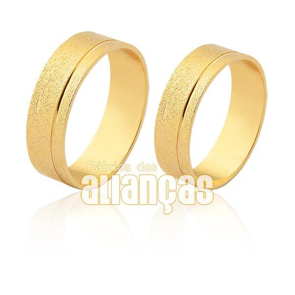 Alianças de Noivado e Casamento em Ouro Amarelo 18k 0,750 FA-1553
