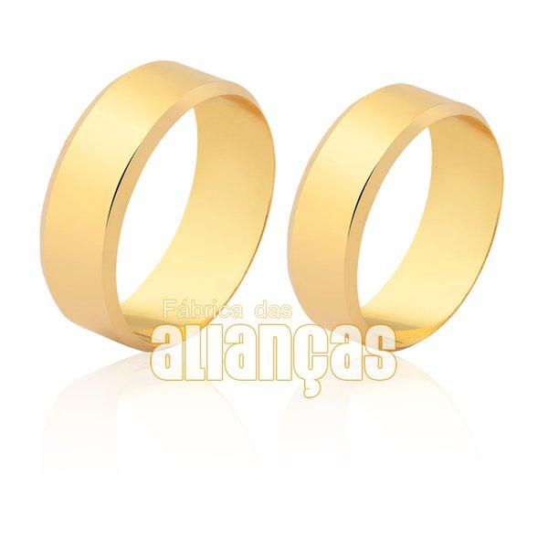 Alianças de Noivado e Casamento em Ouro Amarelo 18k 0,750 FA-1622