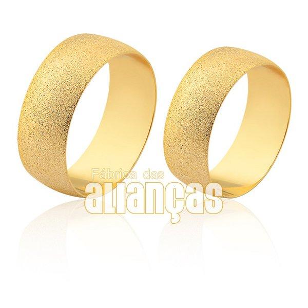 Alianças de Noivado e Casamento em Ouro Amarelo 18k 0,750 FA-1872