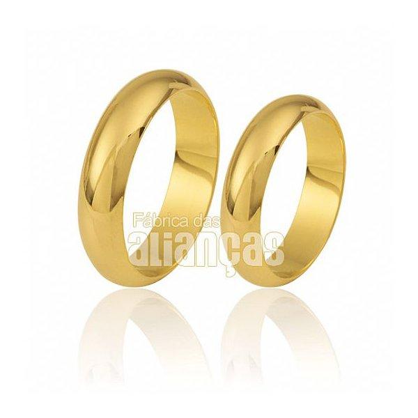 Par de Alianças de Noivado e Casamento em Ouro 18k em mairiporã