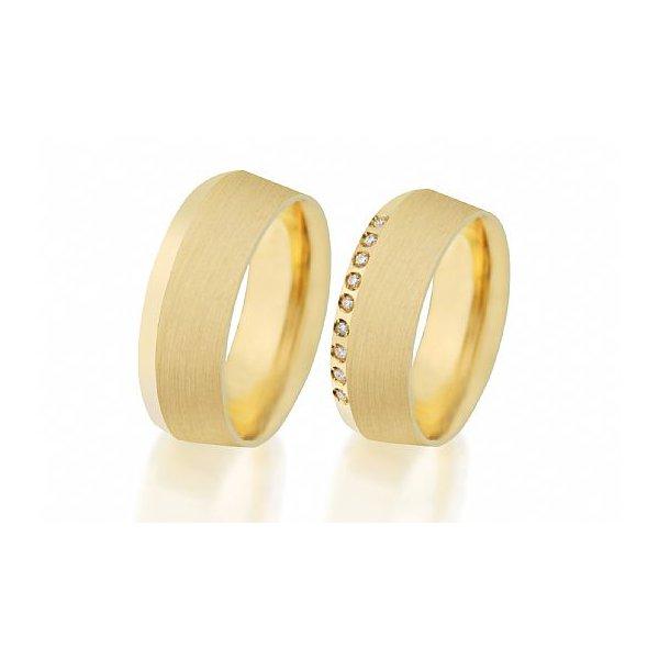Alianças de Noivado e Casamento em Ouro Amarelo 18k 0,750 FA-501