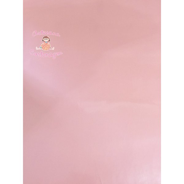 PVC VERNIZ ROSA CLARO - 0,50 CM X 1,40 CM